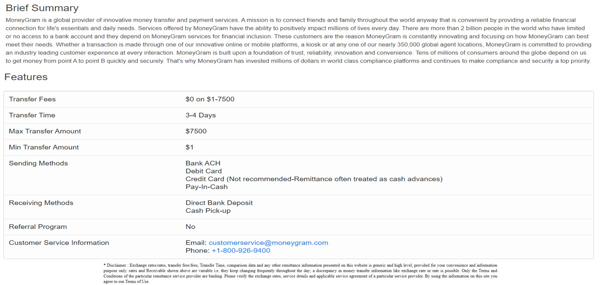 send money to India using MoneyGram last step